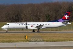 HB-IZU - Saab 2000 (2000-037) - Darwin Airline - 10.01.2014 - Genf (GVA/LSGG)