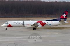 HB-IZJ - Saab 2000 (2000-015) - Darwin Airline - 11.01.2014 - Genf (GVA/LSGG)